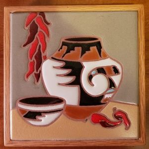 Ceramic and Wooden Wall Decor